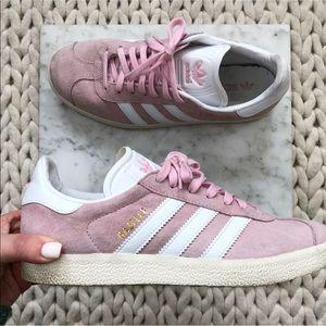 Adidas Gazelle Pink Blush Suede Sneakers